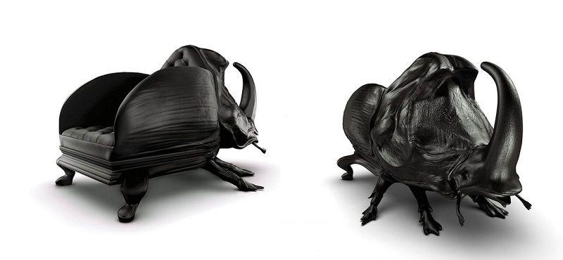 кресла в виде жука-носорога