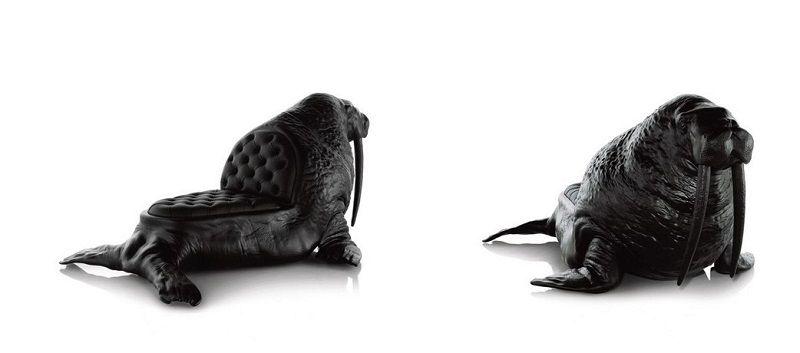 кресла в виде животных - морж