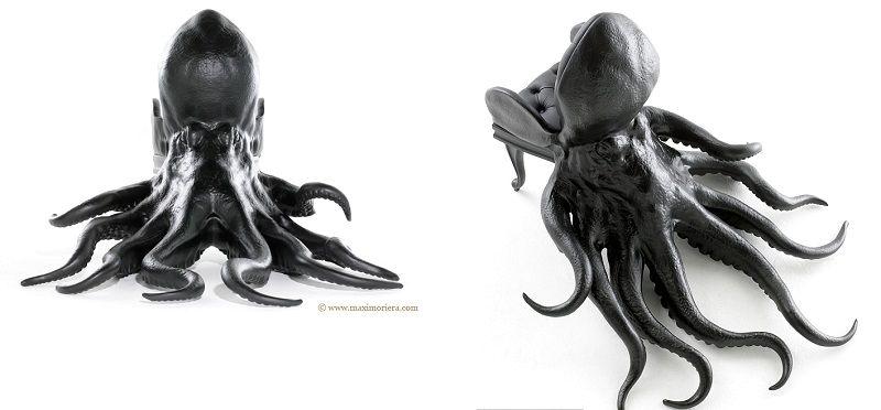 кресла в виде животных - осьминог