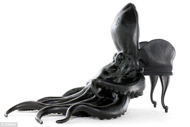 кресло в виде осьминога