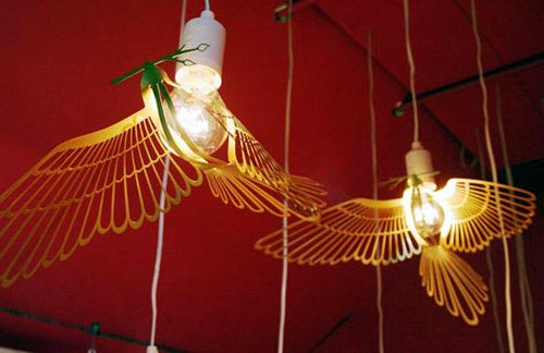 лампа в виде птицы