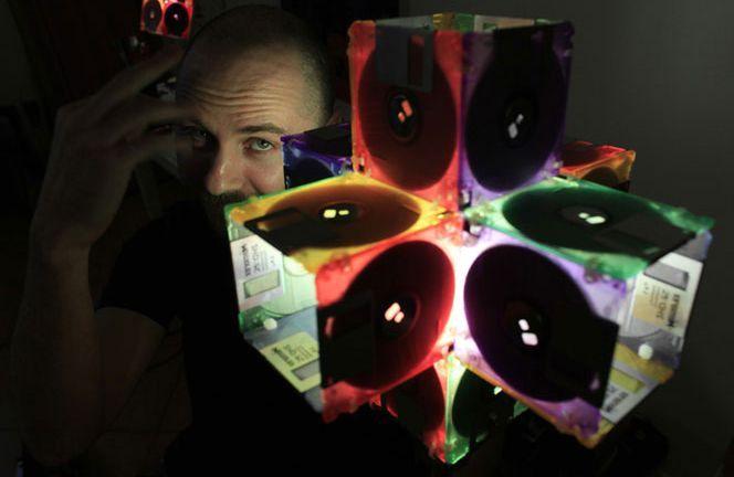 лампы из дискет