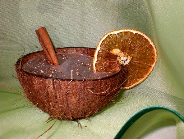 мастер-класс свеча в скорлупе кокоса
