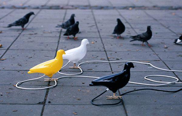 ночник в виде голубя
