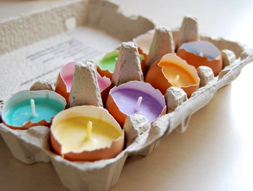 свечи в скорлупе от яиц