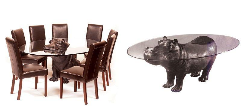 столы в виде животных - бегемот