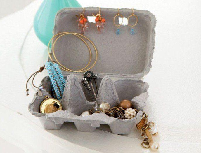 органайзер для украшений из лотков от яиц