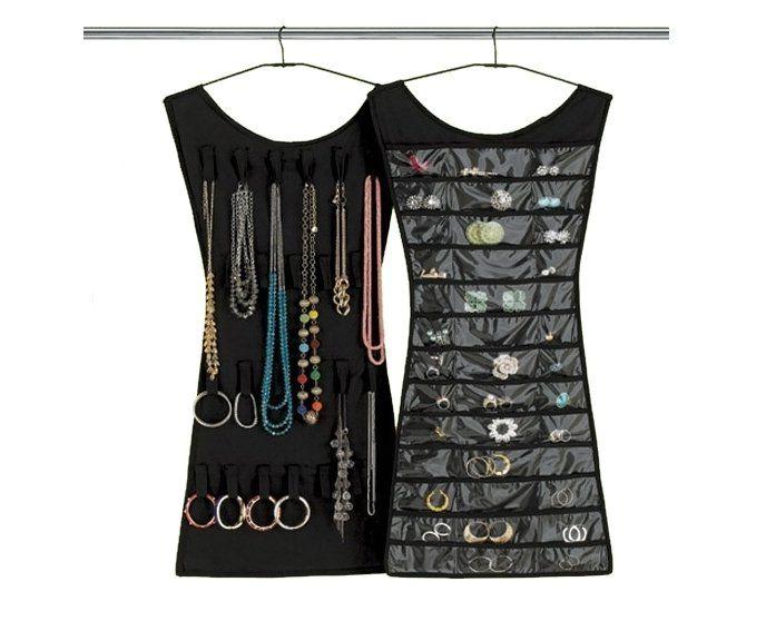 черной платье с карманами для бижутерии