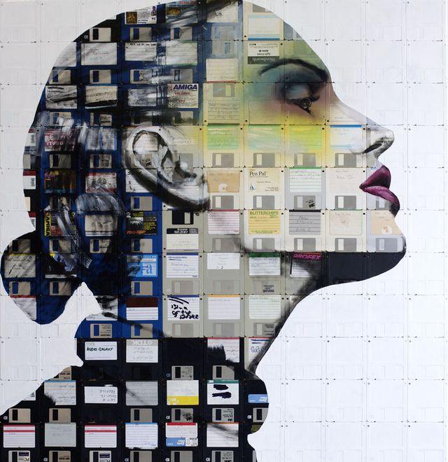 портреты на дискетах от nick gentry