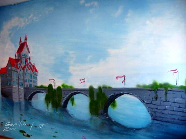граффити в интерьере детской