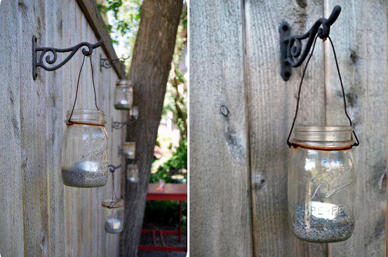 садовые фонарики - подсвечники своими руками