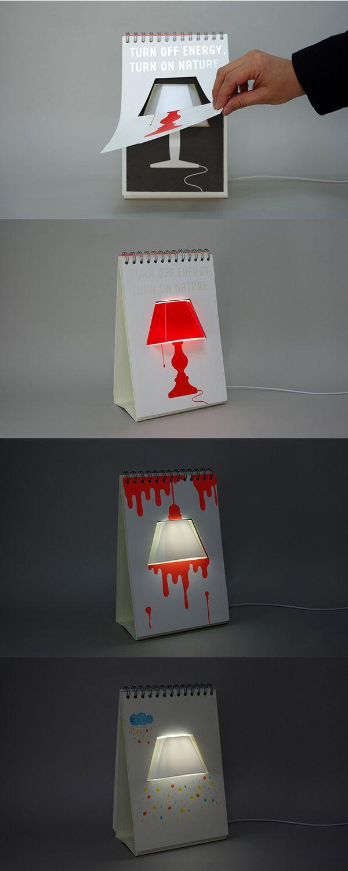 настольная лампа календарь page by page