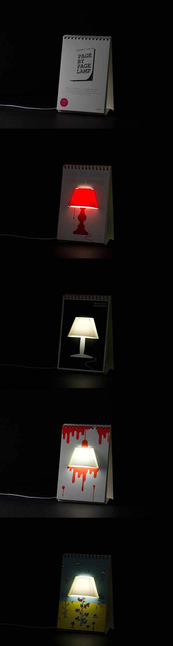 лампа календарь usb page by page