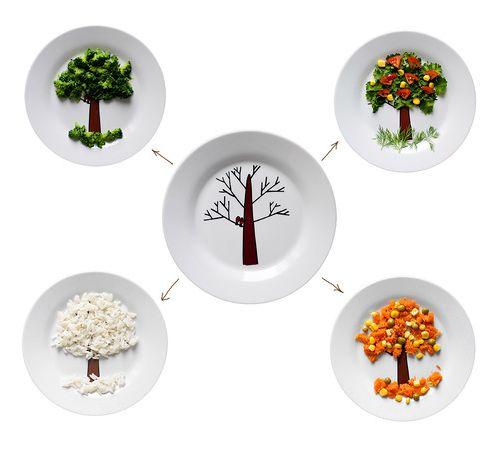 тарелки для детей с рисунком дерева