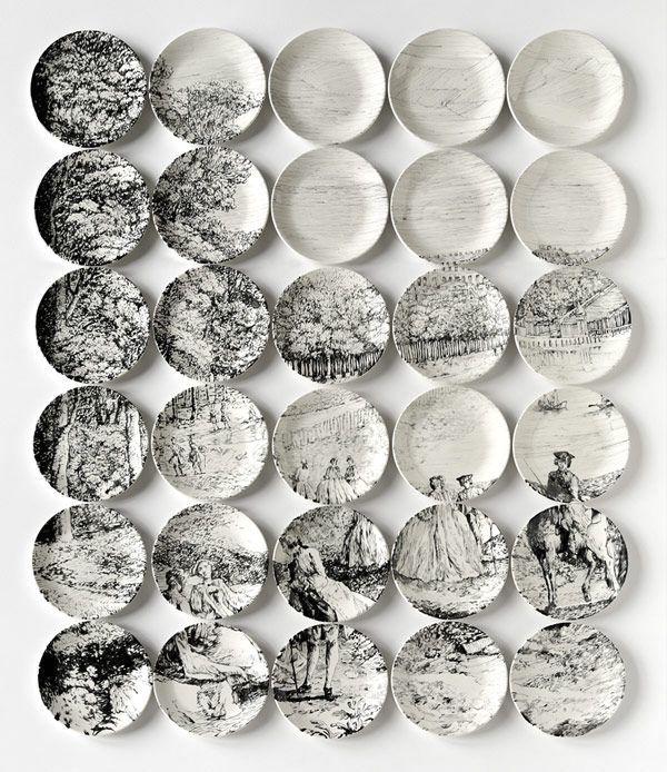 декоративные тарелки - мозаика