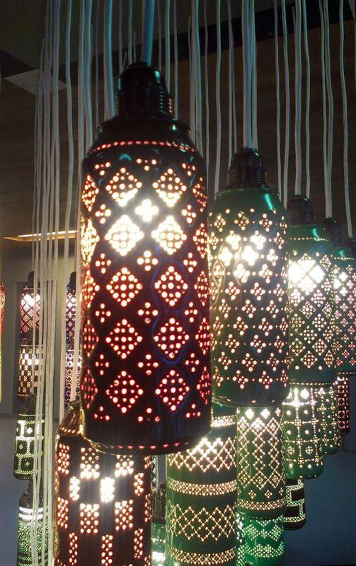 светильник - поделки из пивных банок