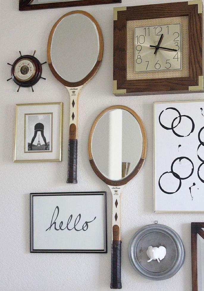 поделки из ракеток - зеркала из ракеток