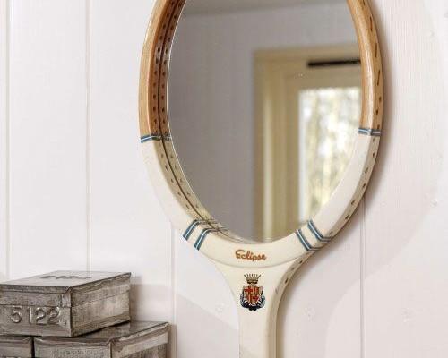поделки из ракеток - зеркало из ракетки