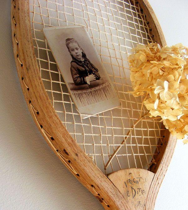 поделки из ракеток - рама для фотографии
