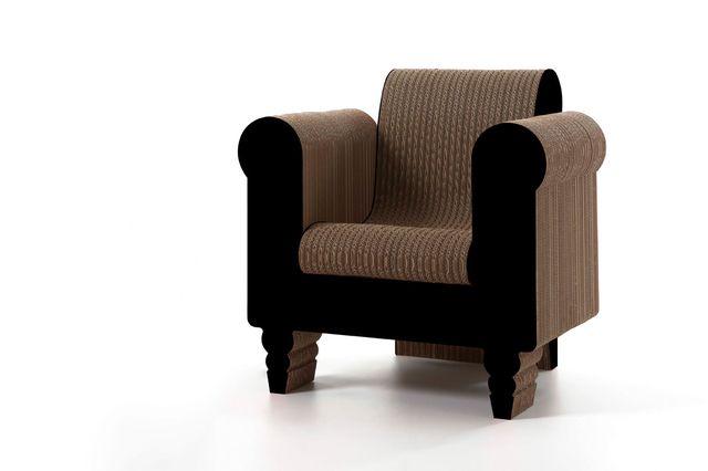картонная мебель - кресло из картона