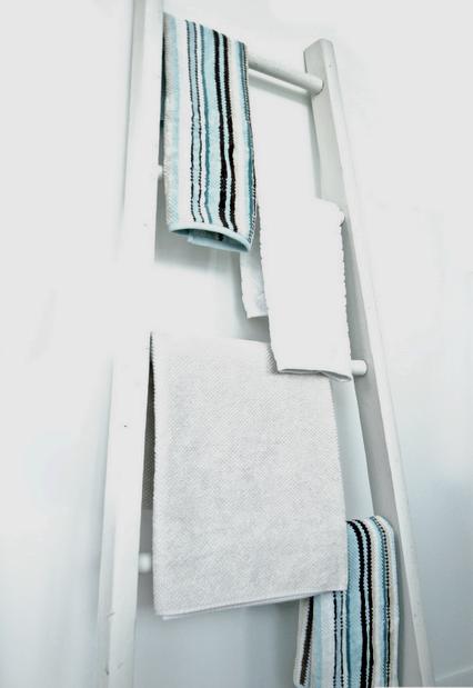 стремянка в интерьере ванной комнаты