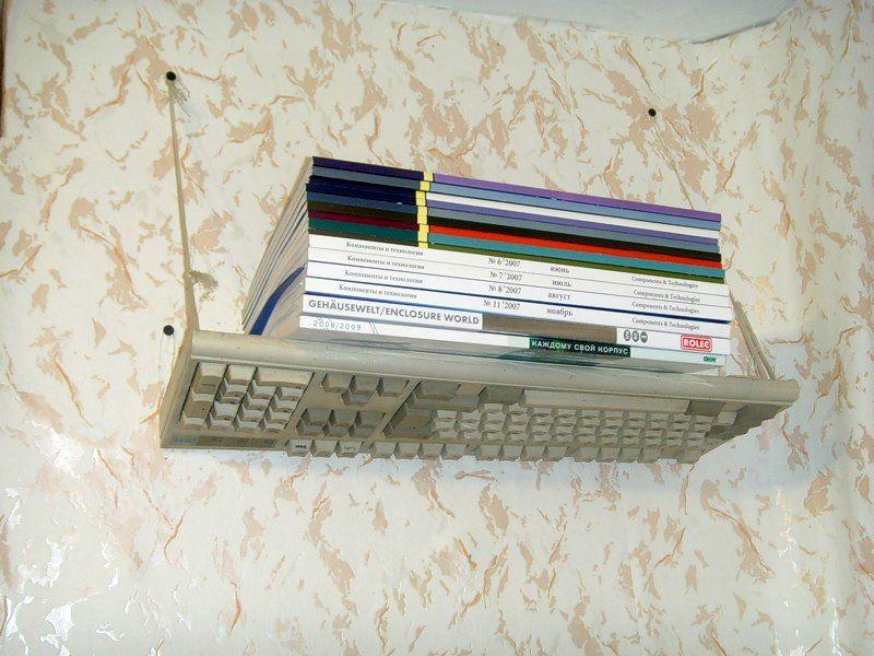 полка из старой клавиатуры