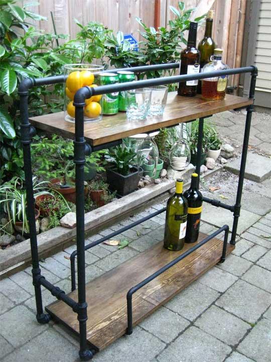 барный столик своими руками на колесиках