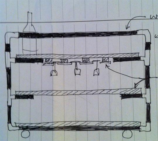 схема барного столика своими руками