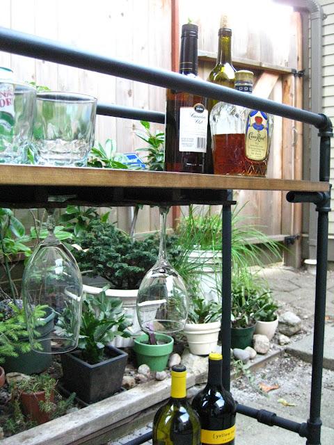 барный стол своими руками из труб