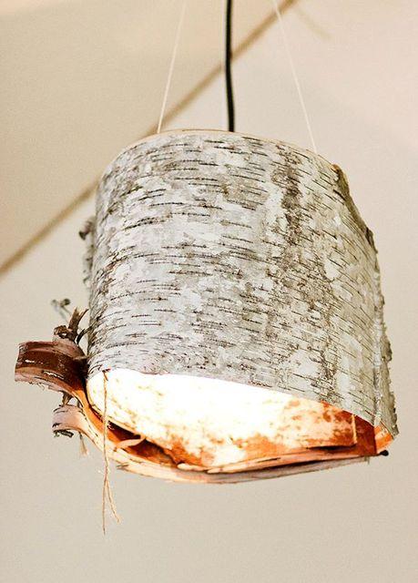 лампа из бересты своими руками