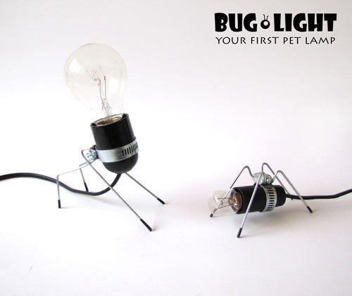 светильники в виде насекомых