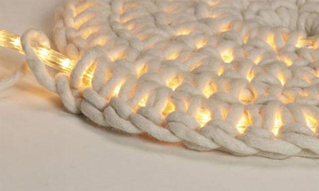 светодиодная подсветка пола в коврике