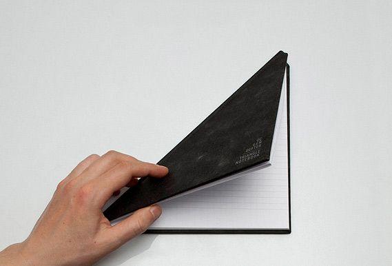 черный треугольный блокнот от tan mavitan
