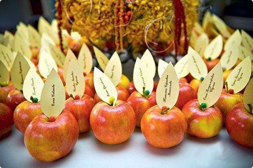 яблоки с указателями