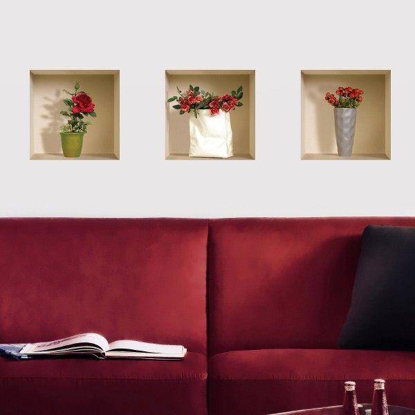 декоративные наклейки на стену с 3D