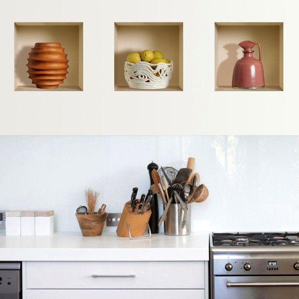 декоративные наклейки на стену с 3D эффектом
