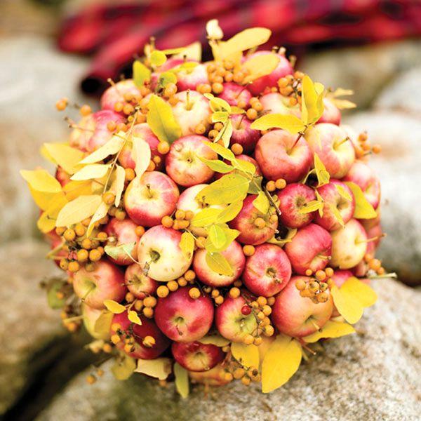 букет - декор из яблок