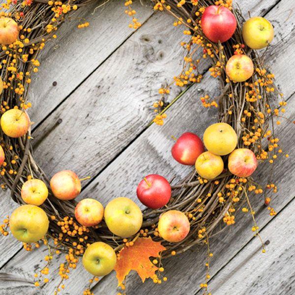 осенние венки из яблок