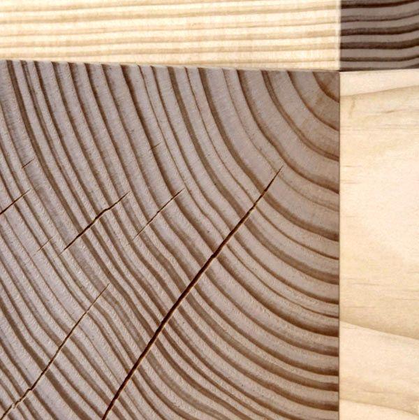 угловая полка из деревянных кубиков