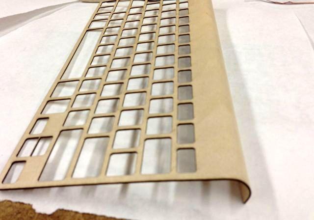 процесс создания деревянной клавиатуры своими руками