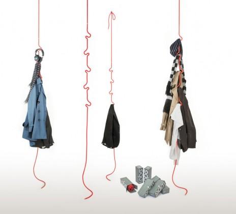 легкая и мобильная веревка вешалка