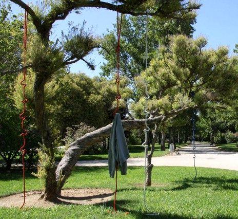 вешалка веревка под открытым небом