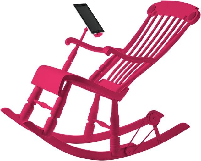 док станция в виде кресла - качалки iRock