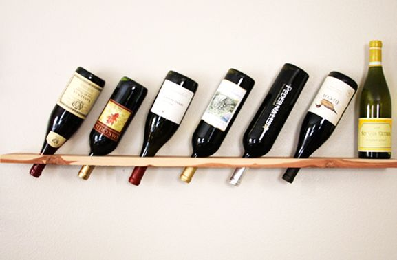 полка для бутылок вина своими руками