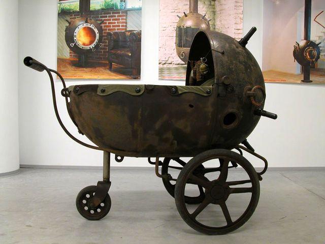 коляска из мины