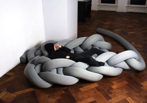 вязаная мебель phat knits