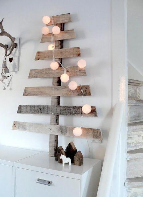 альтернативные новогодние елки из досок