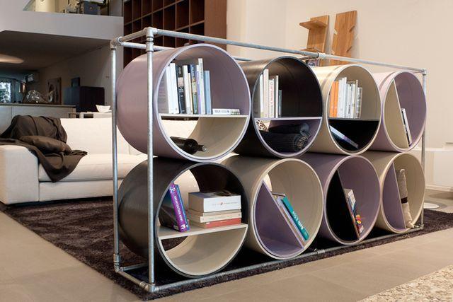 мебель из бумаги - стеллаж из целлюлозы