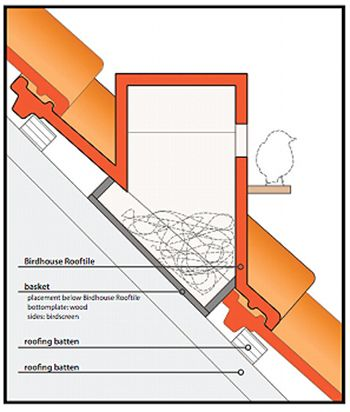 схема скворечника на крыше