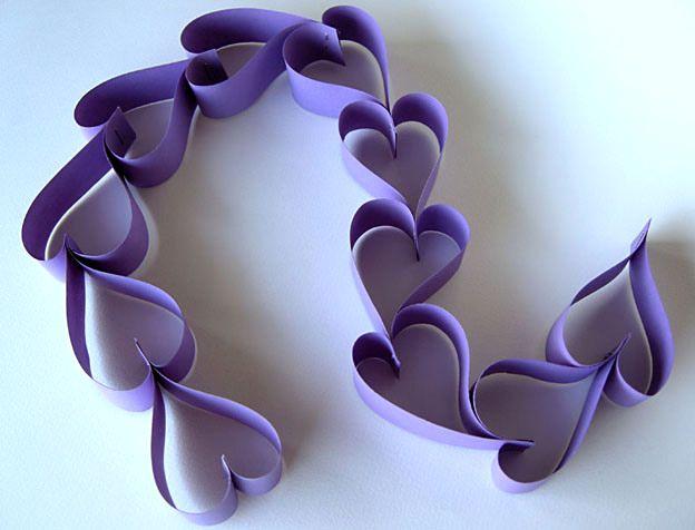 поделки сердечки гирлянда